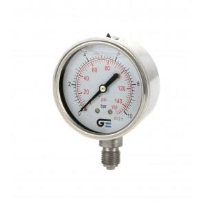 Glycerin Pressure Gauge - Stainless Thread